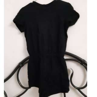 Black short sleeved AA romper