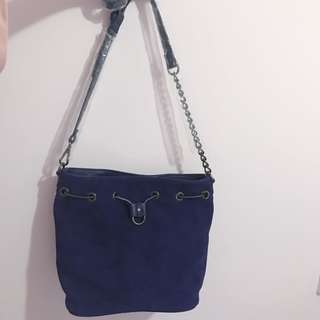 Republic of aces Faux Leather navy DIANNE lady bag 猄皮藍色水桶袋