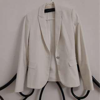 White formal jacket from zara
