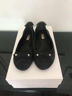 Balenciaga suede navy flats Sz 37.5 (fits true to size)