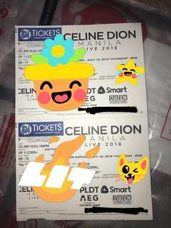 RUSH!!!! HUGE DISCOUNT! ONLY 55k FOR 2JULY19 CELINE DION VIP CORAL TICKETS