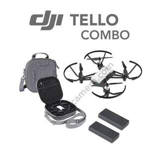 NEW DJI TELLO COMBO SET (Total 2 Battery + Bag)