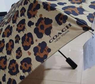 Coach Ocelot Print Leopard Brown Umbrella