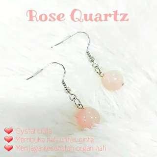 Anting Rose Quartz