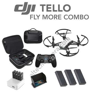 New DJI TELLO FLY MORE COMBO ( Total 3 Battery + Remote + Bag)