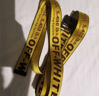 AUTHENTIC OFF WHITE BELT