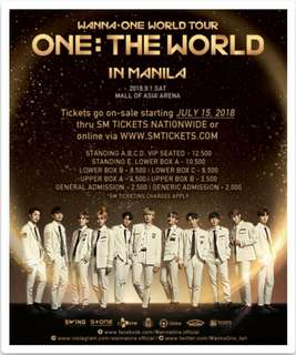 TRADE: Wanna One Tickets