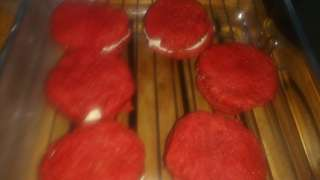 red velvet cream oatmeal sandwich, cream puff, mini cookies, smores oatmeal sandwich cookies, and best sellers banana loaf and muffins, bownies...