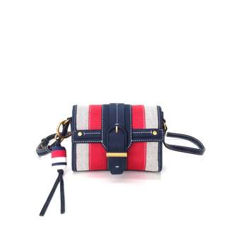 Tory Burch Canvas and Suede Crossbody