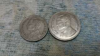 2pcs Thailand Old Coin
