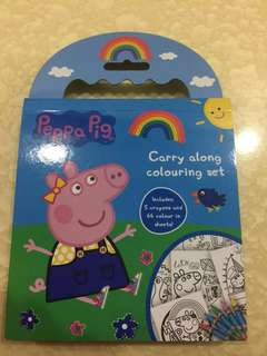 Cartoon Carry Along Coloring Book