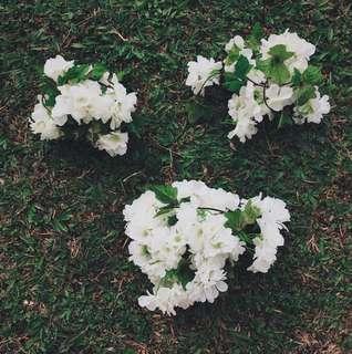 White Artificial Hydrangea [Rental]