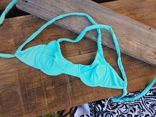 Blue bikini top