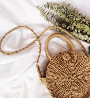 Claire Woven Round Bag