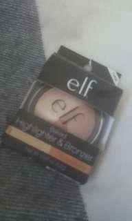 Elf baked highlighter &bronzer