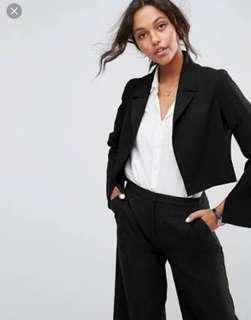 Cue black blazer