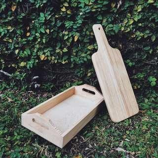 Wooden Tray & Chopping Board [Rental]