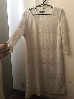 Philosophy White Lace Dress