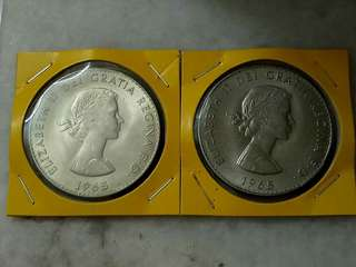 2pcs Australia Churchill Big Size Coin.