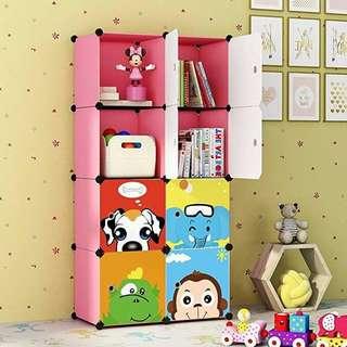 8 cubes diy cabinet storage wardrobe animal print design