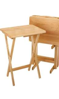 Wood TV Table