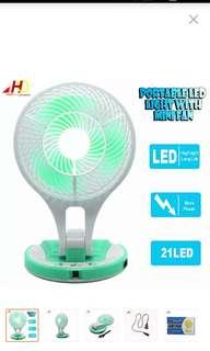 Rechargeable LED fan