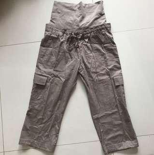Mamalicious Brown Cargo Maternity Pants