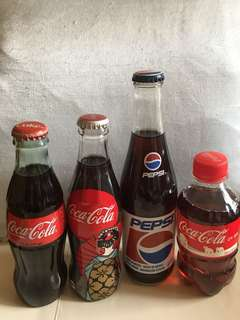 可口可樂收藏品另加一支百事收藏品 coke Coca Cola