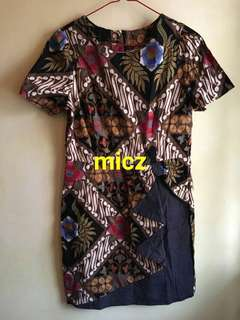 Dress Batik Coklat Motif
