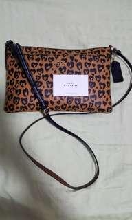 Original COACH leopard leather sling bag rare