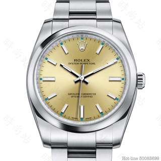 ROLEX 114200_CHAMPAGNE OYSTER PERPETUAL 34 OYSTER 34MM OYSTERSTEEL