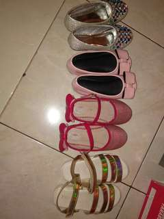 Dijual sepatu dan sendal anak perempuan