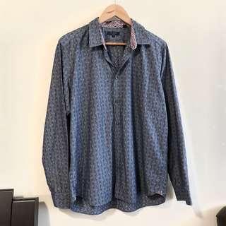 Ted Baker XL Men's Floral Print Button Down Shirt