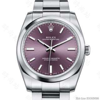 ROLEX 114200_PURPLE OYSTER PERPETUAL 34 OYSTER 34MM OYSTERSTEEL