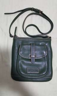 dooney and bourke green leather sling bag