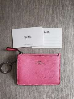 Original Coach Mini Skinny ID case, card coin purse in Pink