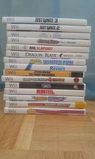 Assorted Wii Games - including Just Dance