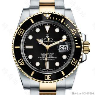 ROLEX 116613LN_BLACK SUBMARINER DATE OYSTER 40MM STEEL AND YELLOW GOLD