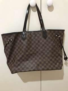 LV Louis Vuitton Never Full Bag