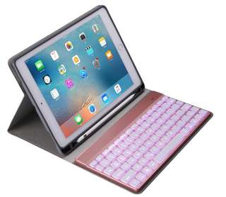 "iPad 9.7"" Case 連藍芽鍵盤連筆槽 with Bluetooth Keyboard and pencil holder"