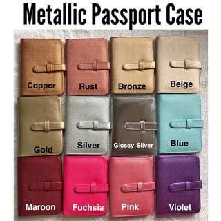 Metallic passport holder