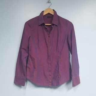 Violet Polo Long Sleeve