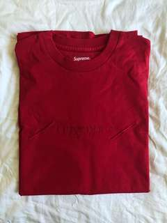 Red tonal embroidery top size M