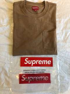 Supreme Pocket Tee light brown