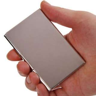 Stainless steel business credit card/name holder case