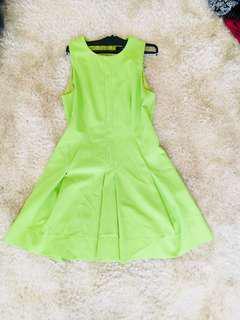 CUE green dress