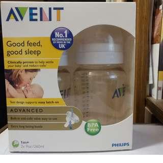 New Avent PES baby bottle (奶樽) 9oz/260ml X2