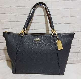 coach ava tote embossed midnight
