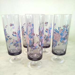 Aderia Lilac Footed Glass
