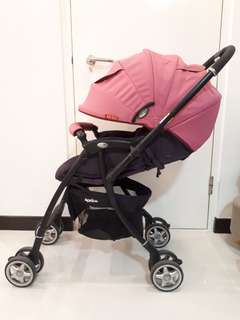Aprica Luxuna CTS Stroller (Creamy Krystle Pink)